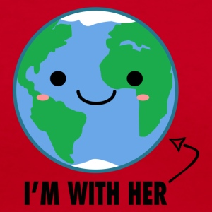 I'm with her Mother Earth Day - Women's V-Neck T-Shirt