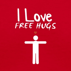 I Love FREE Hugs - Women's V-Neck T-Shirt