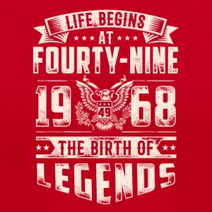 Life Begins at Fourty-Nine Legends 1968 four 2017 - Women's V-Neck T-Shirt
