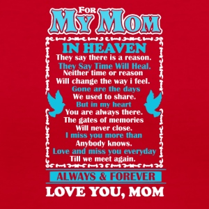 Mom In Heaven Shirt - Women's V-Neck T-Shirt