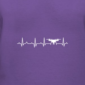 Drone Heartbeat x Frequency - Women's V-Neck T-Shirt
