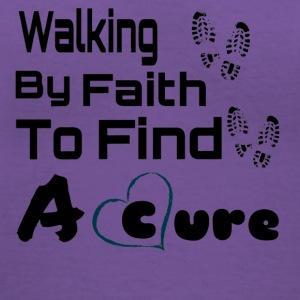 Walking By Faith Lupus Awareness Graphic Tee - Women's V-Neck T-Shirt