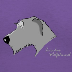 Irish Wolfhound Silhouette - Women's V-Neck T-Shirt