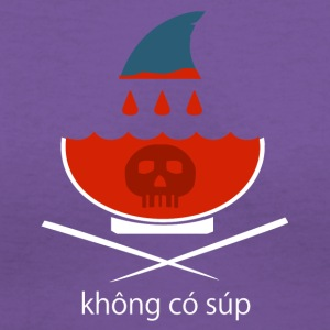 No Shark Fin Soup in Vietnamese - Women's V-Neck T-Shirt