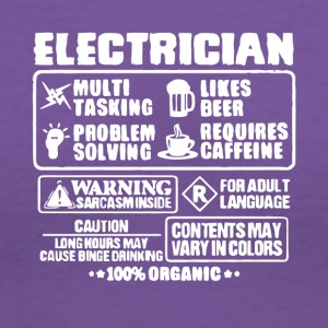 Electrician Multi Tasking T Shirt - Women's V-Neck T-Shirt