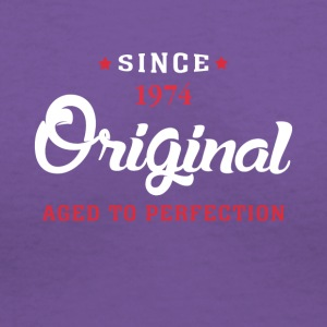 Since 1974 Original Aged To Perfection - Women's V-Neck T-Shirt