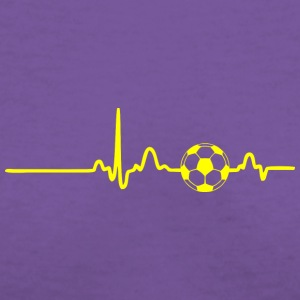 EKG HEARTBEAT BALL yellow - Women's V-Neck T-Shirt