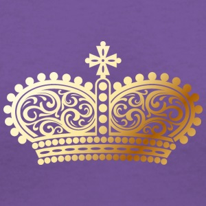 gold Crown shape - Women's V-Neck T-Shirt