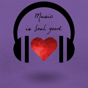 Music is soul good - Women's V-Neck T-Shirt