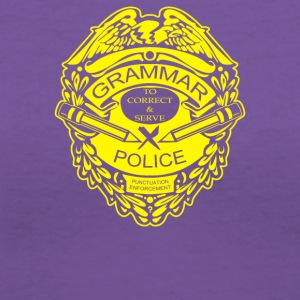 Grammar Police - Women's V-Neck T-Shirt