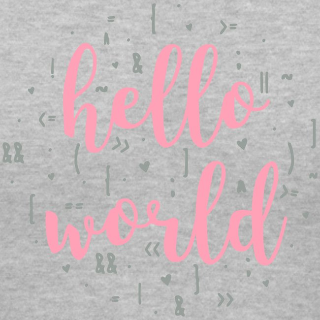 hello world two color