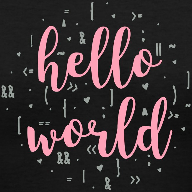 hello world two color