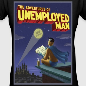 The Adventure of Unemployed Man - Women's V-Neck T-Shirt