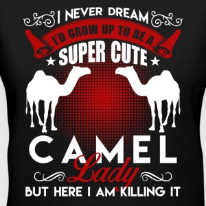 Super Cute Camel Lady Shirt - Women's V-Neck T-Shirt