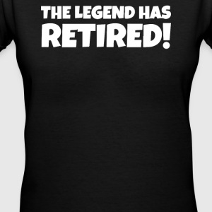 The legend has retired - Women's V-Neck T-Shirt