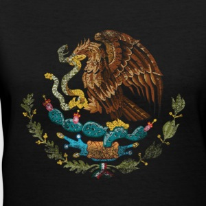 Mexican Coat of Arms Mexico Symbol - Women's V-Neck T-Shirt