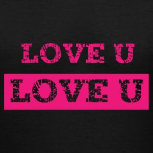 Love u - Women's V-Neck T-Shirt