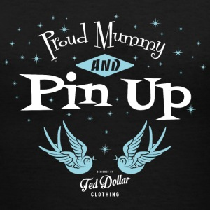 Proud mummy and Pin Up - Women's V-Neck T-Shirt