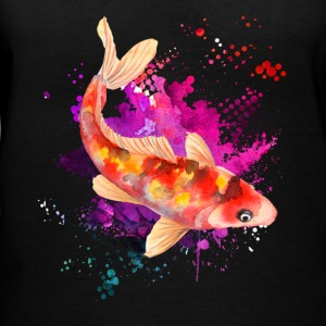 Koi Watercolor Shirts - Women's V-Neck T-Shirt