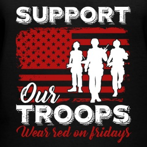 Red Friday Support Our Troops Shirt - Women's V-Neck T-Shirt
