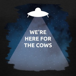 We're Here for the Cows - Women's V-Neck T-Shirt