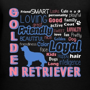 Golden Retriever Shirt - Women's V-Neck T-Shirt