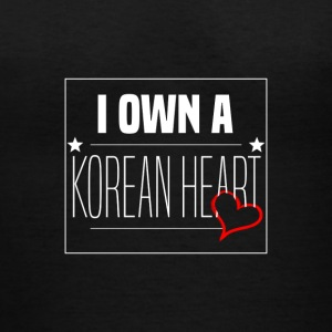 '' I Own A Korean Heart '' Design - Women's V-Neck T-Shirt