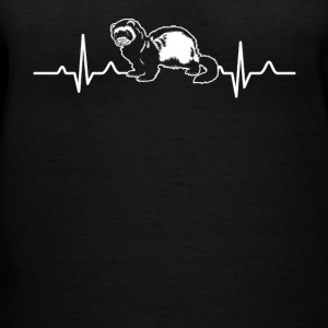 FERRET HEARTBEAT SHIRT - Women's V-Neck T-Shirt