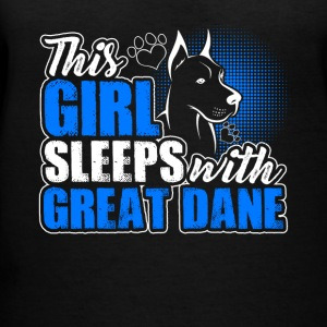 Sleeps With Great Dane Shirt - Women's V-Neck T-Shirt
