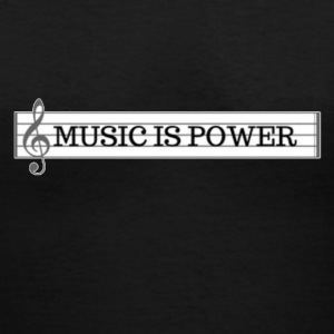 MUSIC_is - Women's V-Neck T-Shirt