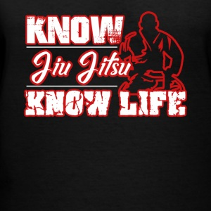 Know Jiu Jitsu Know Life Shirt - Women's V-Neck T-Shirt