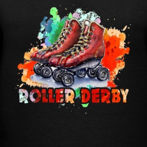 ROLLER DERBY TEE SHIRT - Women's V-Neck T-Shirt
