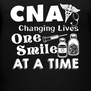 CNA Changing Lives One Smile At A Time - Women's V-Neck T-Shirt