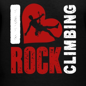 I Love Rock Climbing Shirt - Women's V-Neck T-Shirt