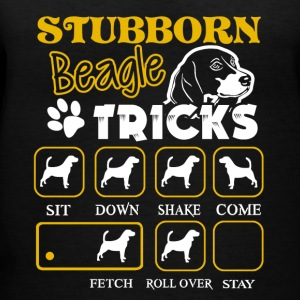 Stubborn Beagle Tricks Tee Shirt - Women's V-Neck T-Shirt