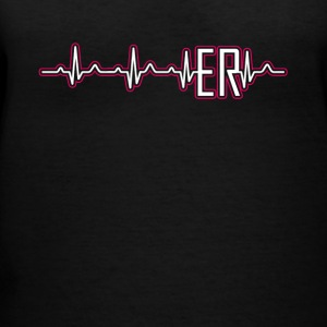 ER Nurse Heartbeat Shirt - Women's V-Neck T-Shirt