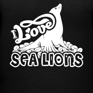 I Love Sea Lions Shirt - Women's V-Neck T-Shirt