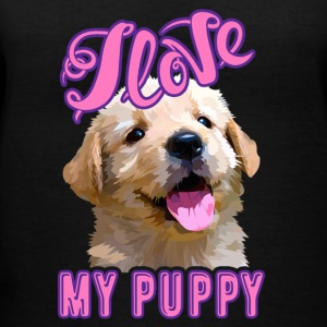 I Love My Puppy Shirts - Women's V-Neck T-Shirt