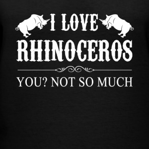 I Love Rhinoceros Tee Shirt - Women's V-Neck T-Shirt