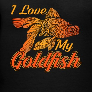 I love my goldfish tee shirt - Women's V-Neck T-Shirt