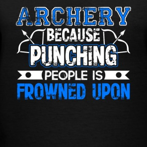 Archery Because Punching People is Frowned Upon - Women's V-Neck T-Shirt
