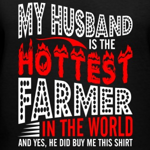 My Husband Is The Hottest Farmer - Women's V-Neck T-Shirt