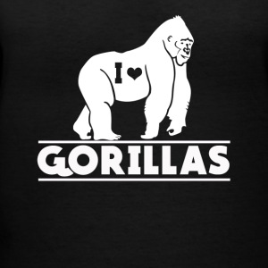 I Love Gorillas Tee Shirt - Women's V-Neck T-Shirt