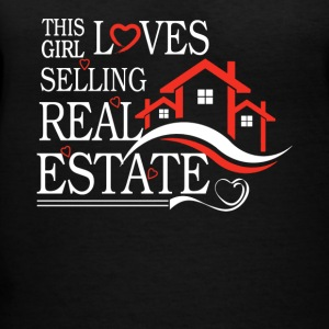 This Girl Loves Sellin Real Estate Shirt - Women's V-Neck T-Shirt