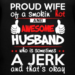 PROUD WIFE OF AWESOME HUSBAND SHIRT - Women's V-Neck T-Shirt