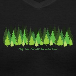May the Forest Be with You - Women's V-Neck T-Shirt