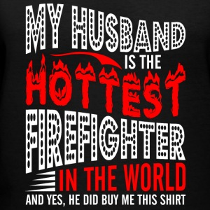 My Husband Is The Hottest Firefighter - Women's V-Neck T-Shirt