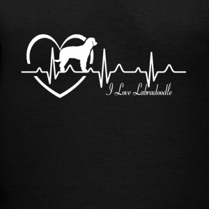 Labradoodle Heartbeat Shirt - Women's V-Neck T-Shirt
