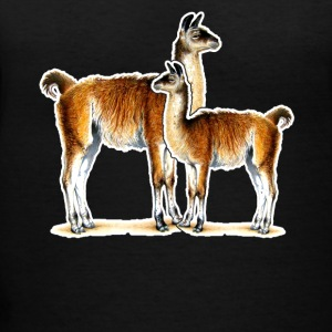 Llama Love Tee Shirt - Women's V-Neck T-Shirt