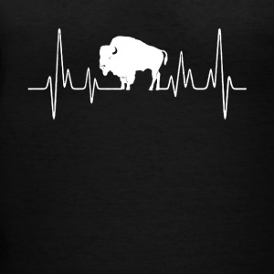 bison heartbeat tee shirt - Women's V-Neck T-Shirt